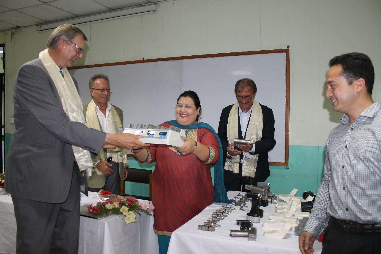 German Ambassador handovers medical equipment to Patan Hospital