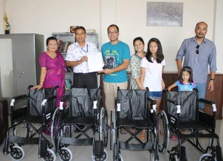 Wheelchairs received as kind donation