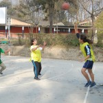 Girls in action during PAHS Sports Week Basketball Tournament