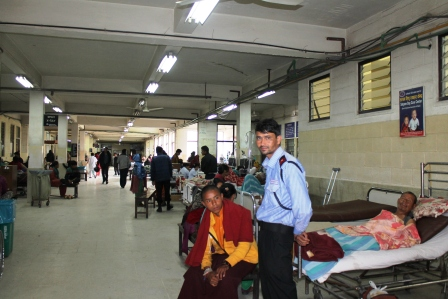 Patan Hospital Triage Area after disaster