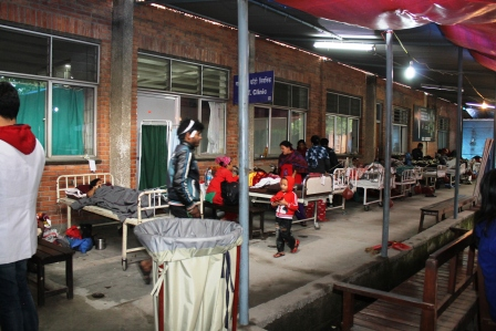 Patan Hospital Referral Clinic area converted into temporary Ortho Ward after disaster