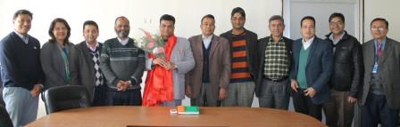 Chairs of Departments felicitate the New VC