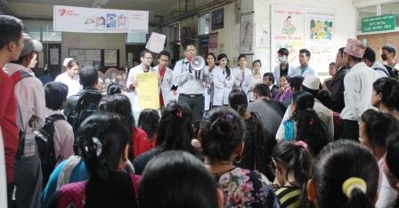 Dr. Krishna Shrestha speaking out for the Heart Health