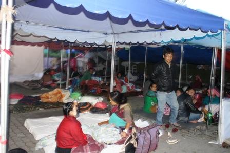 Night view of Tent Hospital at Patan Hospital