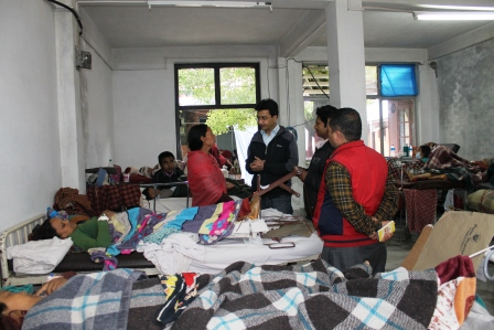 Patan Hospital Triage Area after the disaster